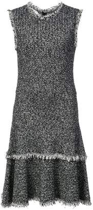 Oscar de la Renta sleeveless tweed knit dress