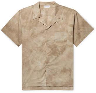 c91e1d4daff John Elliott Camp-Collar Tie-Dyed Cotton-Poplin Shirt - Men - Beige