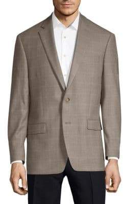 Lauren Ralph Lauren Silk Wool Windowpane Sport Jacket