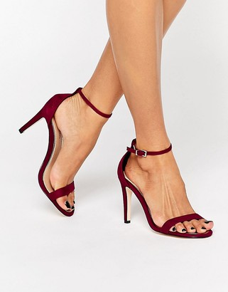 Call it Spring Call It Spring Liraniel Fuschia Barely There Heeled Sandals $61 thestylecure.com