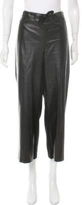 Nina Ricci Cashmere-Paneled Leather Pants