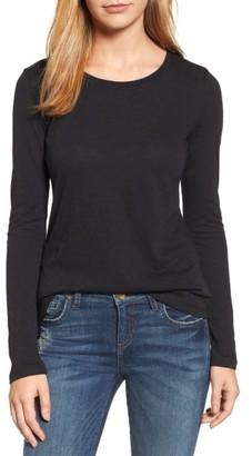 Petite Women's Caslon Long Sleeve Crewneck Tee $29 thestylecure.com