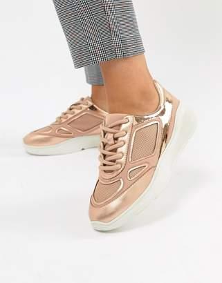 Steve Madden Current Rose Gold Sneaker