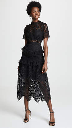 Self-Portrait Self Portrait Abstract Triangle Lace Dress