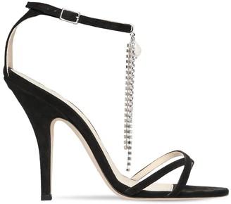 Magda Butrym 110mm Ireland Suede Sandals W/ Crystals