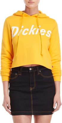 Dickies Yellow Logo Cropped Hoodie