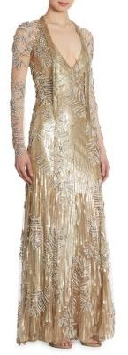 Jenny Packham Sequin Beaded Gown $6,200 thestylecure.com