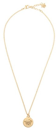 Versace Medusa Coin Necklace - Womens - Gold