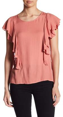 On The Road Dawn Tiered Ruffle Sleeve Blouse