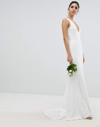 Chi Chi London Bridal Lace Maxi Dress