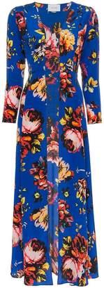 Leone We Are silk floral maxi robe