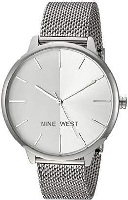 Nine West Women's NW/1981SVSB -Tone Mesh Bracelet Watch