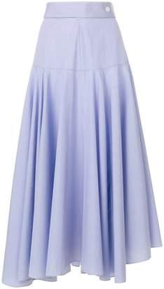 Loewe asymmetric ruffled skirt