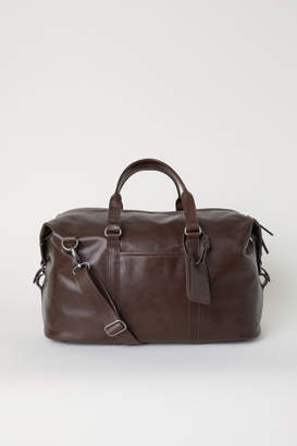 H&M Leather Weekend Bag - Brown