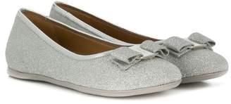 Salvatore Ferragamo Kids bow detail ballerina shoes