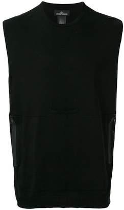 Stone Island Shadow Project sleeveless fitted sweatshirt