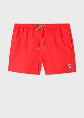 Paul Smith Men's Red Zebra Logo Swim Shorts