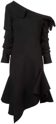 Monse asymmetric neck flared dress