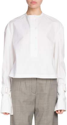 Proenza Schouler Button-Down Long-Sleeve Cotton Poplin Top