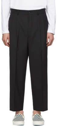 Comme des Garcons Homme Homme Black Tropical Wool Trousers