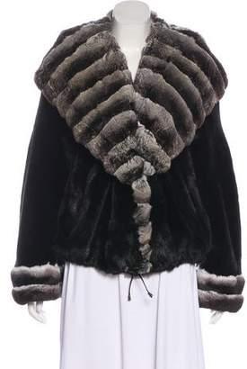 Fur Chinchilla-Mink Fur Shawl-Lapel Jacket