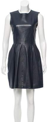 Iris & Ink Leather A-Line Dress