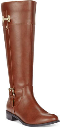 Karen Scott Deliee Wide-Calf Riding Boots, Women Shoes