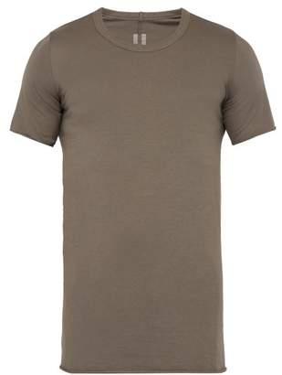Rick Owens Crew Neck Cotton T Shirt - Mens - Grey