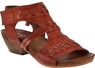 As Is Miz Mooz Leather Woven Detail Sandals - Calico $102.95 thestylecure.com