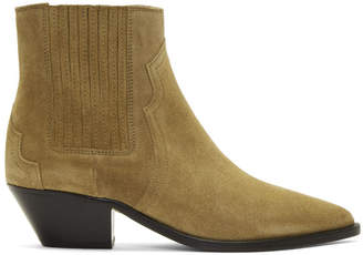 Isabel Marant Beige Derlyn Ankle Boots