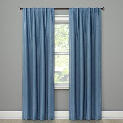 Small Check Curtain Panels