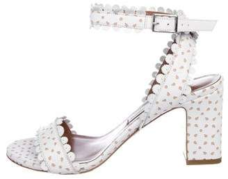 Tabitha Simmons Perforated Leather Strap Sandals