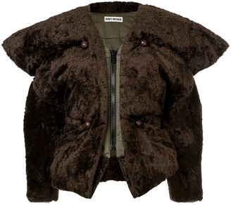 Issey Miyake Pre-Owned Exaggerated fuzzy jacket