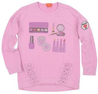 Butter Shoes Girl's Hamptons Sequined Fleece Sweatshirt - Medium Purple, Size 14-16