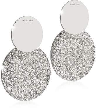 Rebecca R-ZERO Rhodium Over Bronze Drop Earrings