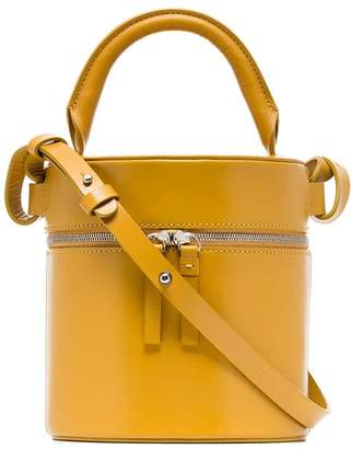 Free Shipping At Farfetch Building Block Yellow Drum Leather Shoulder Bag