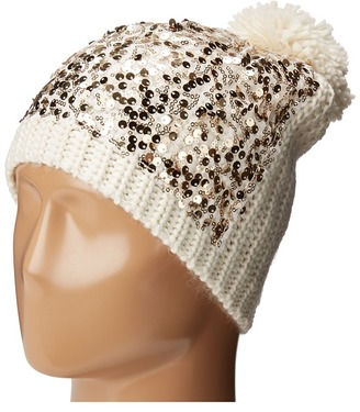 Betsey Johnson Sequins Shine Beanie $24 thestylecure.com
