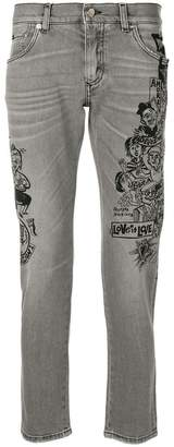 Dolce & Gabbana love motif jeans