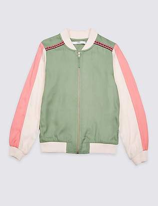 Marks and Spencer Embroidered Bomber Jacket (3-16 Years)