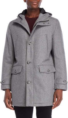 London Fog Hooded Duffle Coat
