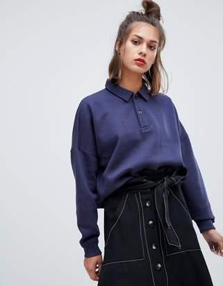 Pull&Bear long sleeved collar top