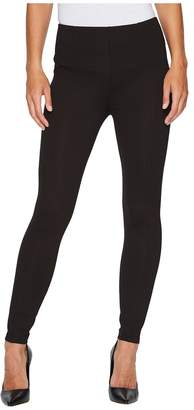 Liverpool Reese Ankle Leggings with Slimming Waist Panel in Mini Check Ponte Knit in Brown Women's Jeans
