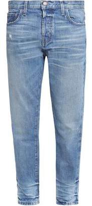 Current/Elliott The Selvedge Taper Distressed Boyfriend Jeans