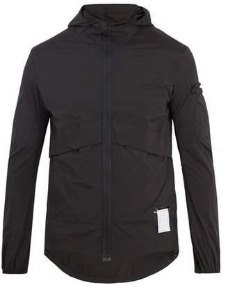Satisfy Self Stowing Shell Windbreaker Jacket - Mens - Black