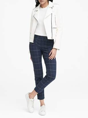 Banana Republic Petite Sloan Skinny-Fit Plaid Pant