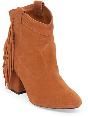 Jessica Simpson Wyoming Fringe Suede Booties $139 thestylecure.com