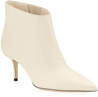 Jimmy Choo Marinda Smooth Leather Booties, Off White