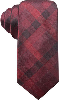 Ryan Seacrest Distinction Men Warwick Gingham Slim Silk Tie