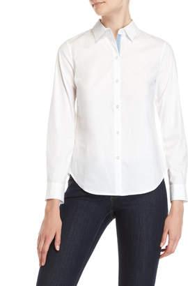 Nautica Solid Long Sleeve Woven Shirt