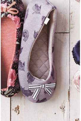 Next Womens Grey Bear Ballerina Slippers
